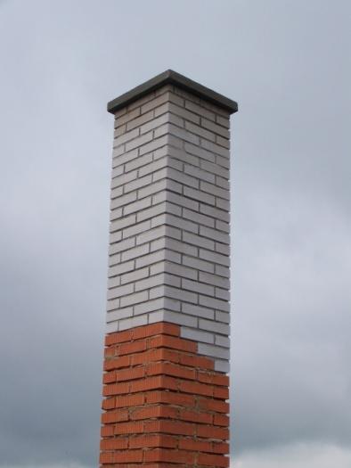 Bílé cihly na komín